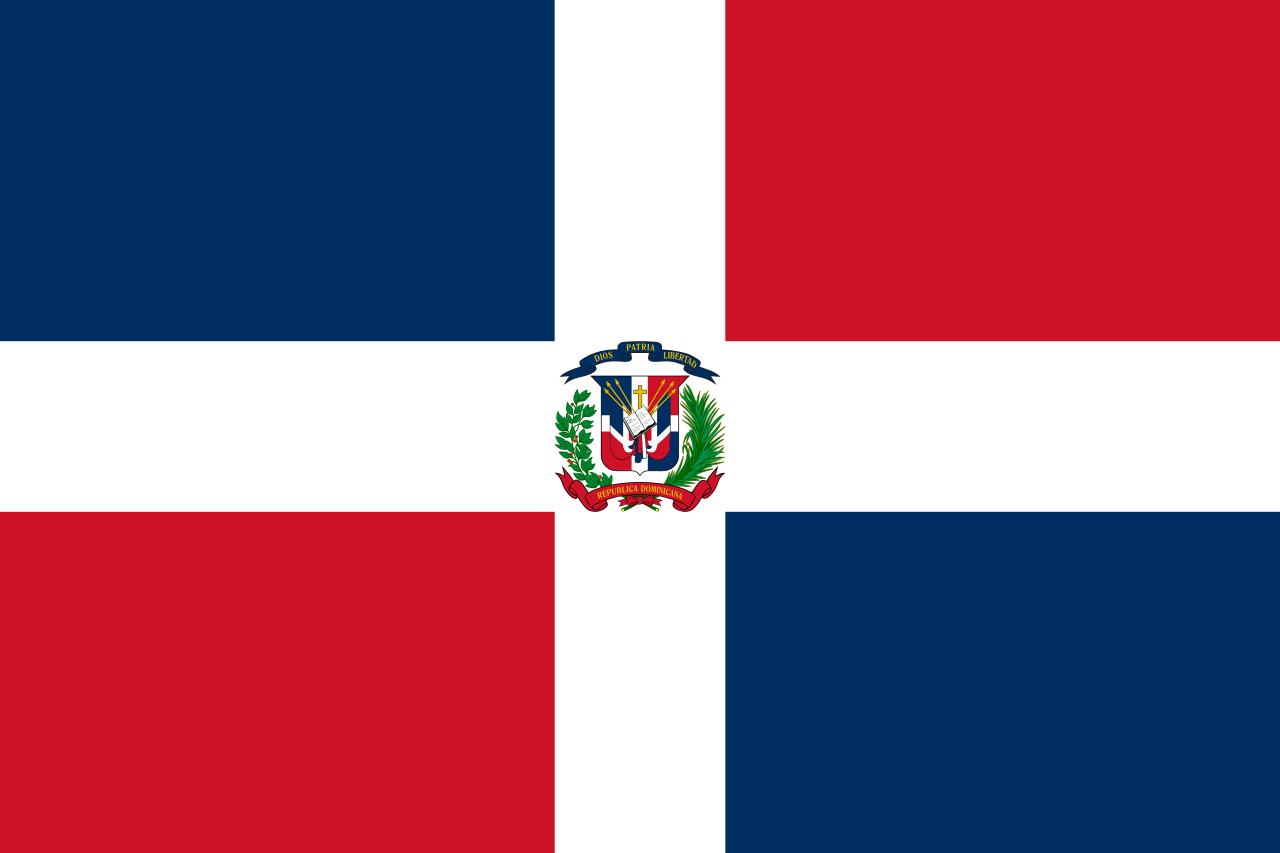 Доминиканская Республика флаг страны