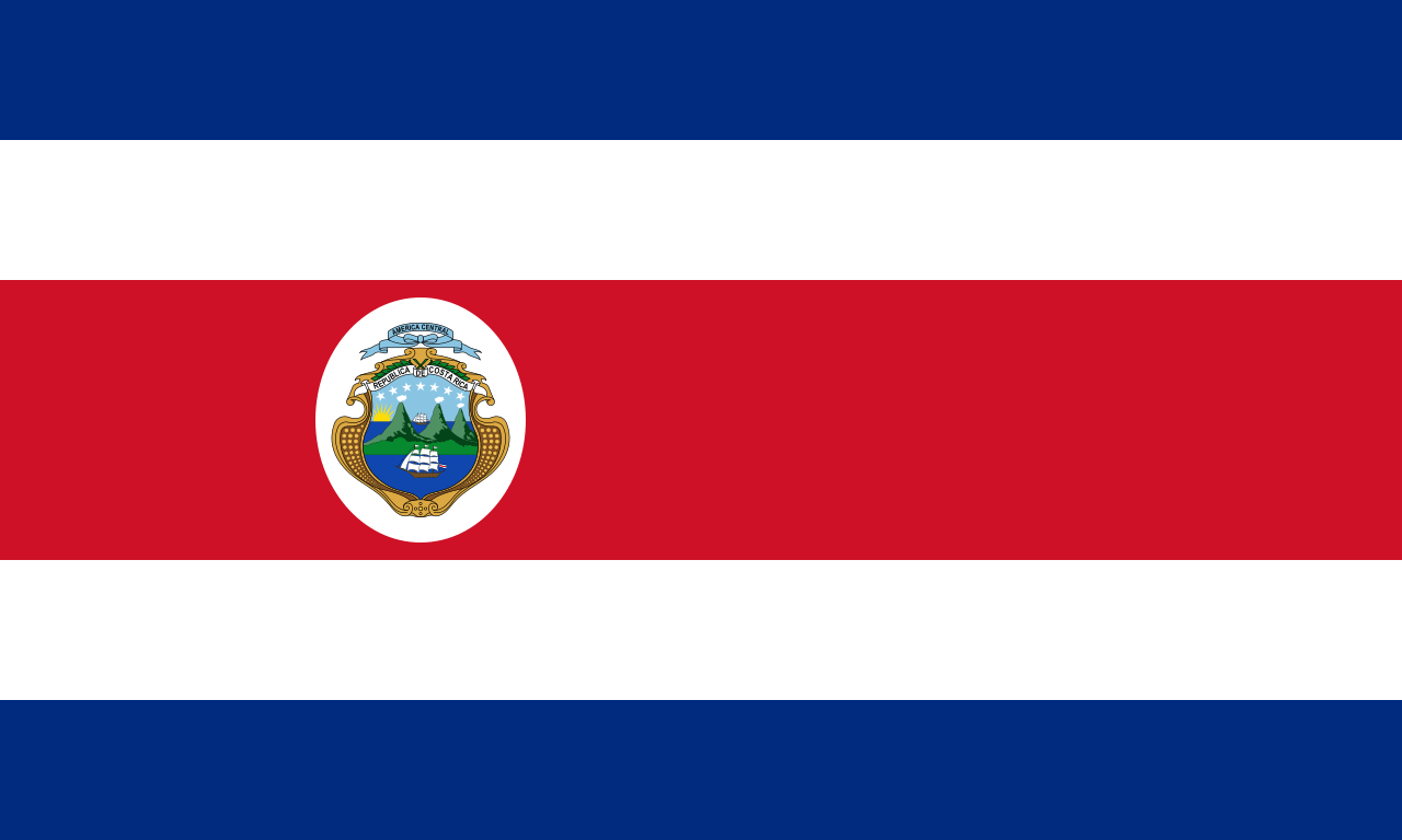 Коста-Рика флаг страны